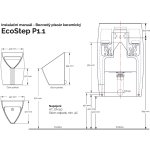 Bezvodý pisoár ECOSTEP P1.1