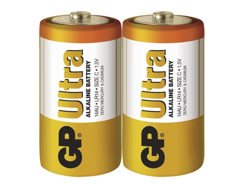 Baterie alkalicka GP ULTRA C - 2ks
