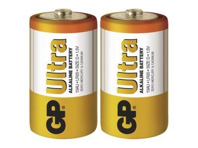 Baterie alkalicka GP ULTRA D - 2ks
